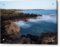 Lava Rock Shore Acrylic Print by Jenna Szerlag