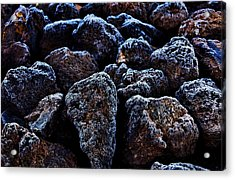 Lavafrost Acrylic Print by Benjamin Yeager