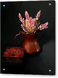 Lavender And Copper Acrylic Print by Grace Dillon