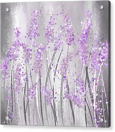 Lavender Art Acrylic Print by Lourry Legarde