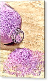 Lavender Bath Salts Acrylic Print by Olivier Le Queinec
