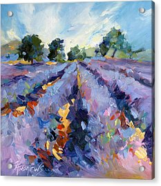 Lavender Blues Acrylic Print by Rae Andrews