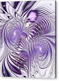 Lavender Elegance Acrylic Print by Anastasiya Malakhova