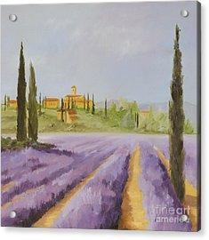 Lavender Fields I Acrylic Print by Logan Gerlock