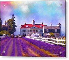 Acrylic Print featuring the digital art Lavender Fields by Kari Nanstad