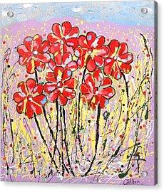 Lavender Flower Garden Acrylic Print