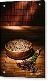Lavender Flowers And Seeds Acrylic Print by Olivier Le Queinec