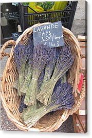 Lavender For Sale Acrylic Print by Pema Hou
