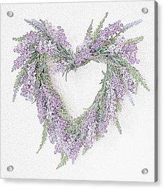 Lavender Heart Acrylic Print by Sharon Lisa Clarke