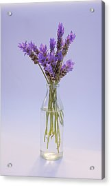 Acrylic Print featuring the photograph Lavender In Glass Vase by Jocelyn Friis