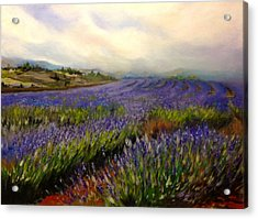 Lavender In Oil Acrylic Print