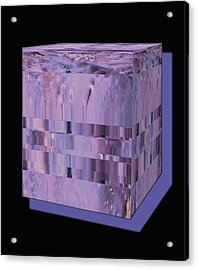 Lavender Light Box Acrylic Print by Colleen Cannon
