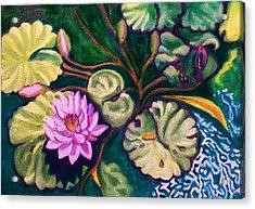 Lavender Lotus Flower Acrylic Print