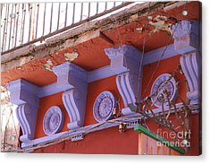 Lavender Moulding Guanajuato Acrylic Print by Linda Queally