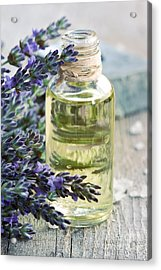 Lavender Oil Acrylic Print by Mythja  Photography