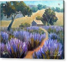 Lavender Path Acrylic Print