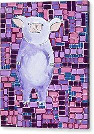 Lavender Piglet Acrylic Print