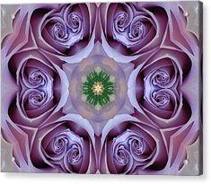 Lavender Rose Mandala Acrylic Print