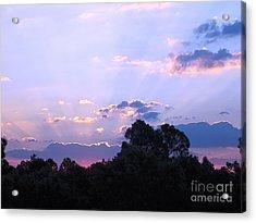 Lavender Sunrise Acrylic Print