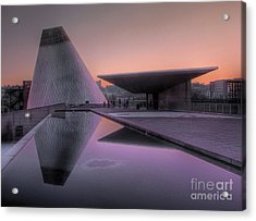 Acrylic Print featuring the photograph Lavender Twilight Cone by Chris Anderson