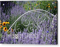 Lavender With Scrolled Settee Acrylic Print
