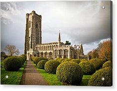 Lavenham Church Acrylic Print by Tom Gowanlock