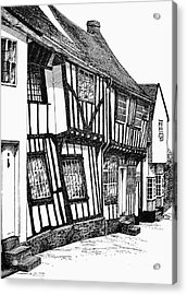 Lavenham Timber Acrylic Print by Shirley Miller