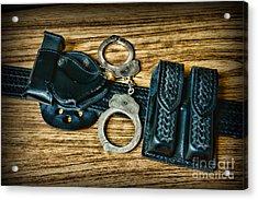 Law Enforcement - Police -duty Belt Acrylic Print