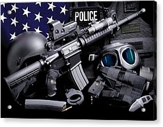 Law Enforcement Tactical Police Acrylic Print by Gary Yost
