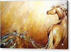 Law Of Attraction Right Side Acrylic Print by Dina Dargo