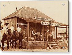 Law West Of The Pecos Acrylic Print by Pg Reproductions