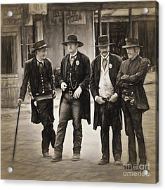 Lawmen And Armed Citizens  ... Acrylic Print by Chuck Caramella