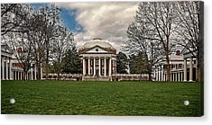 Lawn And Rotunda At University Of Virginia Acrylic Print