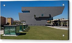 Lawn At A Museum, Disseny Hub Barcelona Acrylic Print by Panoramic Images