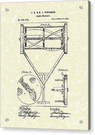 Lawn Mower 1874 Patent Art  Acrylic Print