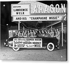 Lawrence Welk In His Hudson Acrylic Print by Underwood Archives