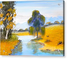 Acrylic Print featuring the painting Lawson River by Pamela  Meredith