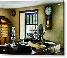Lawyer - Globe Books And Lamps Acrylic Print by Susan Savad