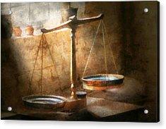 Lawyer - Scale - Balanced Law Acrylic Print by Mike Savad