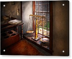 Lawyer - Scales Of Justice Acrylic Print by Mike Savad