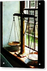 Lawyer - Scales Of Justice Acrylic Print by Susan Savad