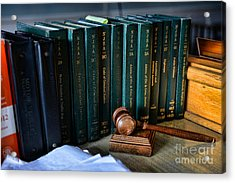 Lawyer - The Code Of Criminal Justice Acrylic Print by Paul Ward