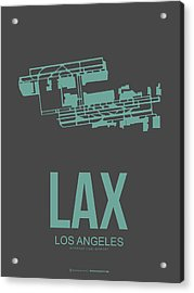 Lax Airport Poster 2 Acrylic Print by Naxart Studio