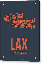 Lax Airport Poster 3 Acrylic Print by Naxart Studio