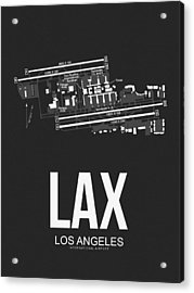 Lax Los Angeles Airport Poster 3 Acrylic Print by Naxart Studio