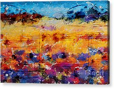 Acrylic Print featuring the digital art Layered Jelly Bean Lemonade by Lon Chaffin