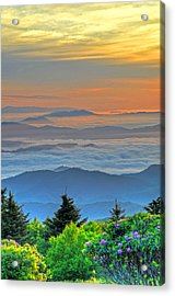 Layers Of Sunrise Acrylic Print by Mary Anne Baker