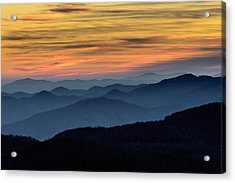 Layers Of The Blue Ridge Mountains Acrylic Print by Serge Skiba