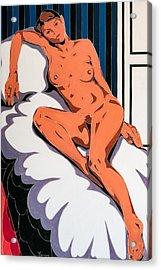 Laying Nude Acrylic Print by Varvara Stylidou