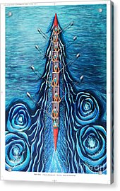 Blue Eight By O4rsom. Rowing Sport Of Champions Acrylic Print